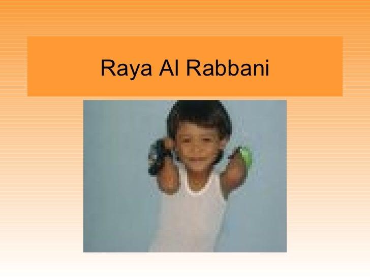 Raya Al Rabbani