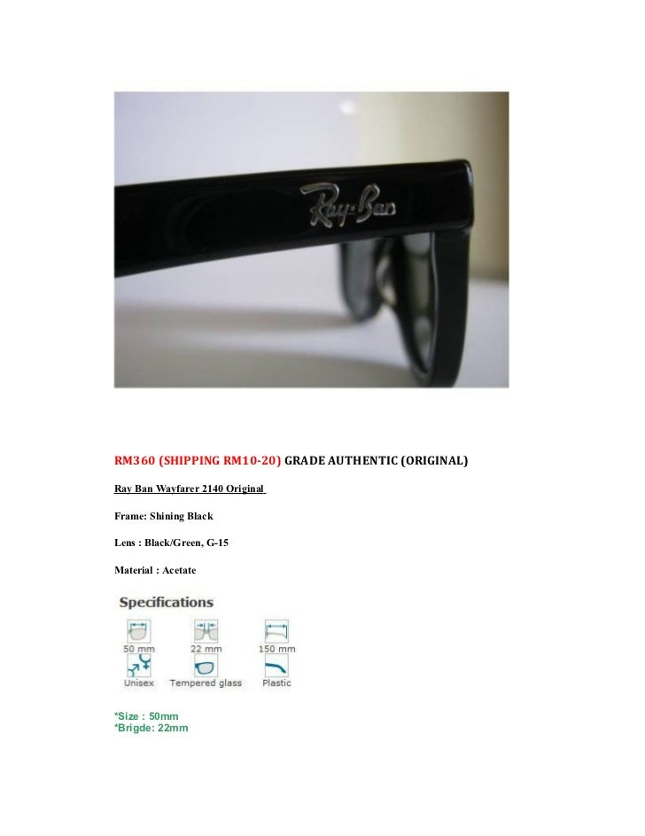 32a5fb4061 ... 50mm Brigde  22mm  32. What will you get Package comes with  Rayban ...