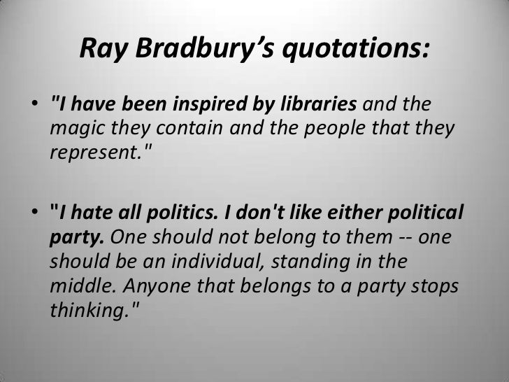 science fiction ray bradbury Chances are good that science fiction writer ray bradbury, who died today at 91 in southern california, would not like how he's referred to in his many flowering obituaries.