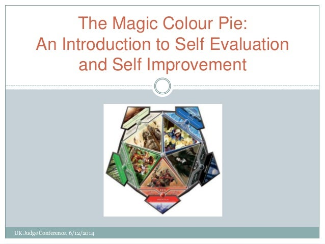 UK Judge Conference. 6/12/2014 The Magic Colour Pie: An Introduction to Self Evaluation and Self Improvement