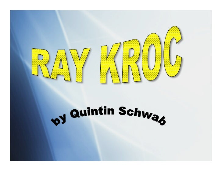Essay/Term paper: Ray kroc and mcdonald's marketing strategy