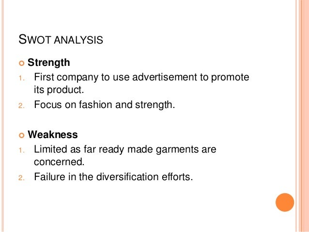 Raymond for Swot analysis for t shirt business