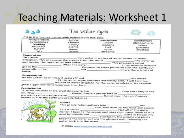 Raynor jacqueline water cycle – The Water Cycle Worksheets