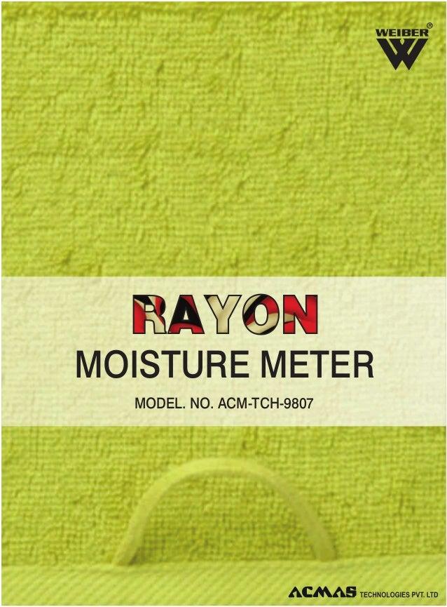 R  MOISTURE METER MODEL. NO. ACM-TCH-9807