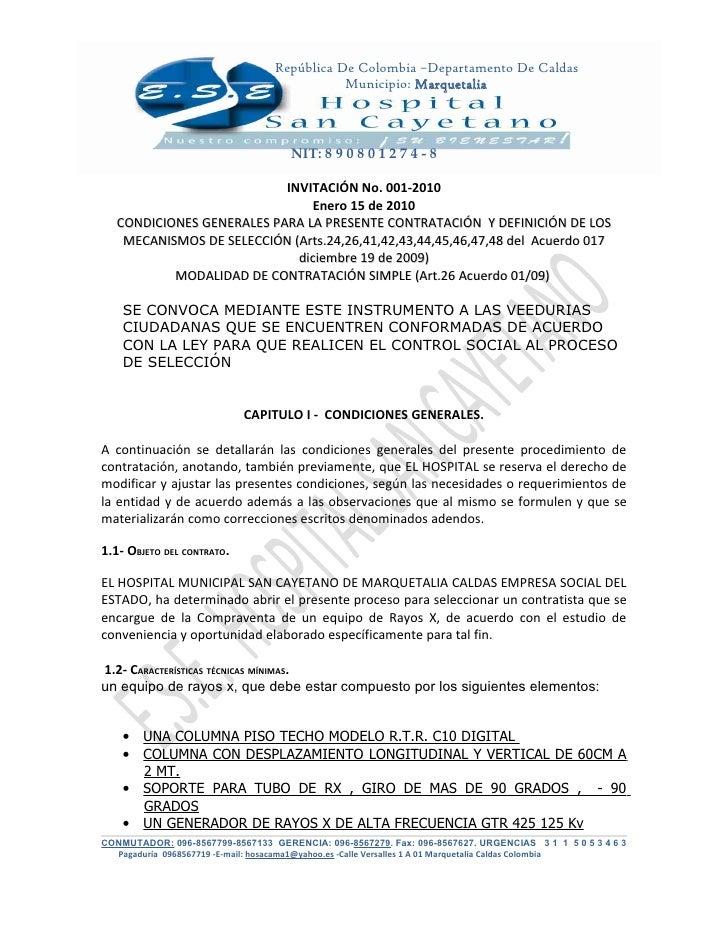República De Colombia –Departamento De Caldas                                             Municipio: Marquetalia          ...