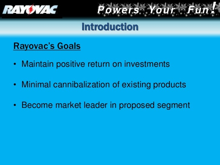 rayovac the rechargeable battery opportunity case study analysis Identification and analysis  rayovac corporation the rechargeable battery opportunity case study: rayovac corporation the rechargeable battery opportunity.