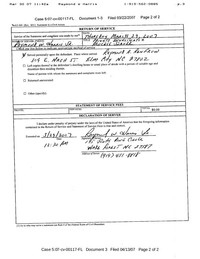 Case 5:07-cv-00117-FL Document 3 Filed 04/13/07 Page 2 of 2
