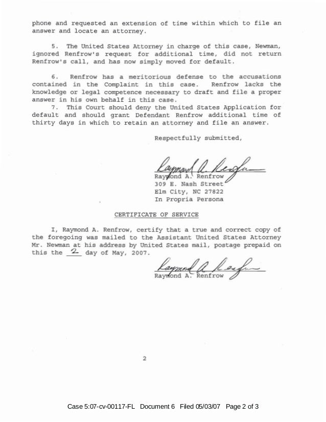 Case 5:07-cv-00117-FL Document 6 Filed 05/03/07 Page 2 of 3