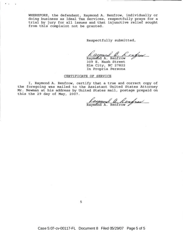 Case 5:07-cv-00117-FL Document 8 Filed 05/29/07 Page 5 of 5