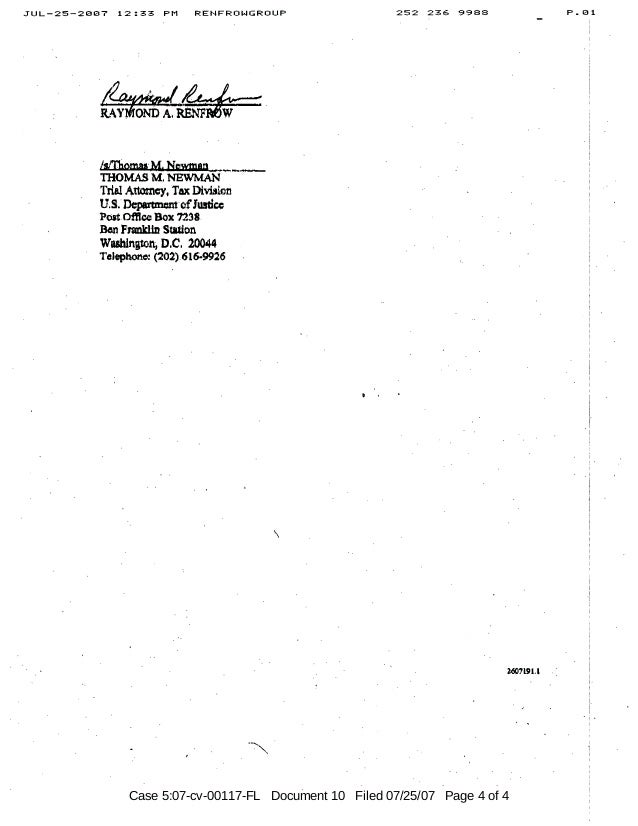 Case 5:07-cv-00117-FL Document 10 Filed 07/25/07 Page 4 of 4