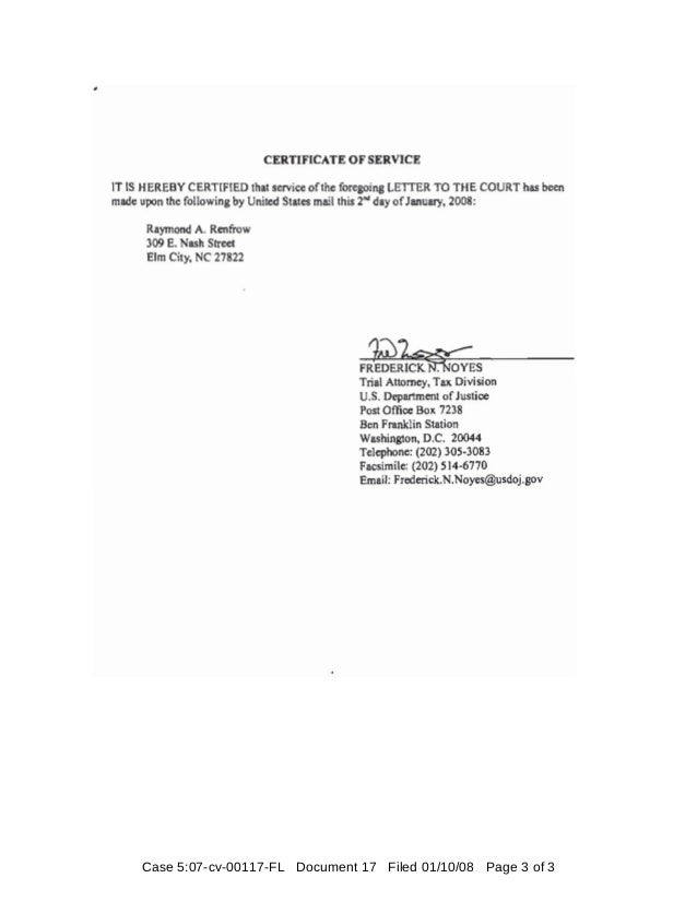 Case 5:07-cv-00117-FL Document 17 Filed 01/10/08 Page 3 of 3