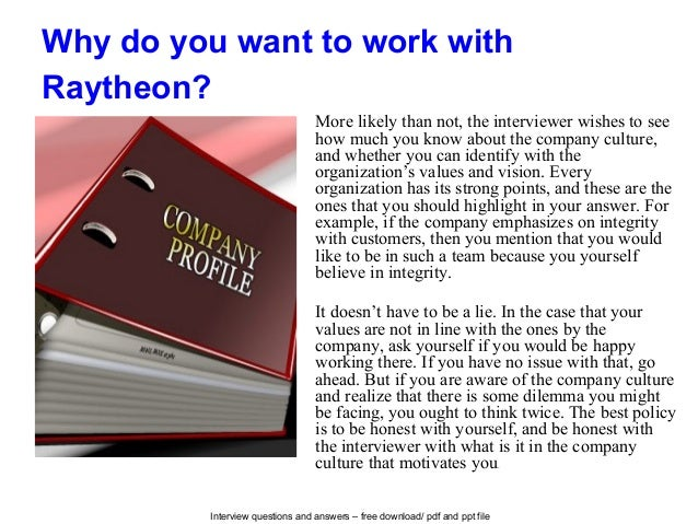 Raytheon Interview Questions And Answers