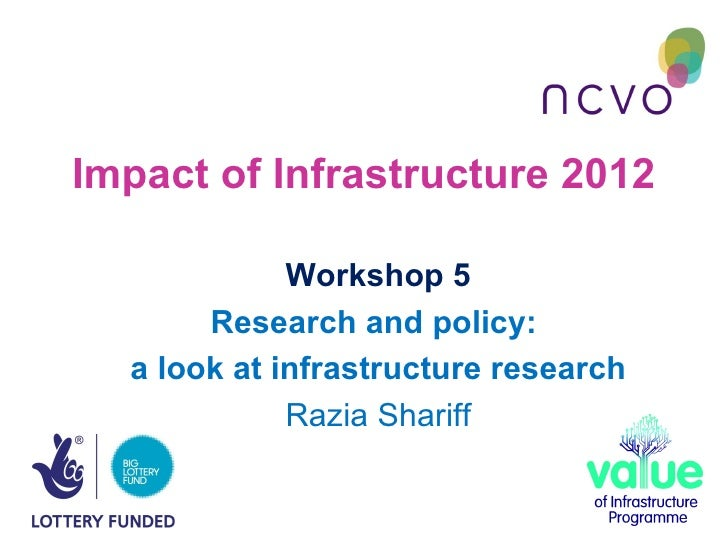 Impact of Infrastructure 2012             Workshop 5       Research and policy:  a look at infrastructure research        ...