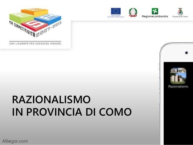 RAZIONALISMO IN PROVINCIA DI COMO Albegor.com