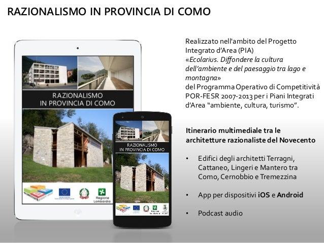 Razionalismo in Provincia di Como Slide 2