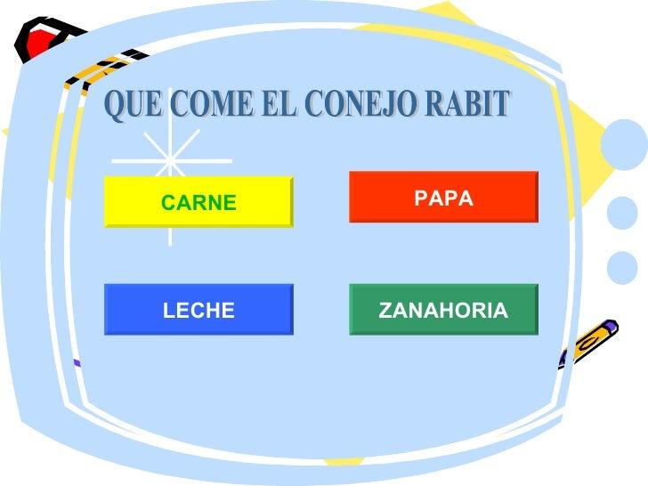 QUE COME EL CONEJO RABIT CARNE LECHE ZANAHORIA PAPA
