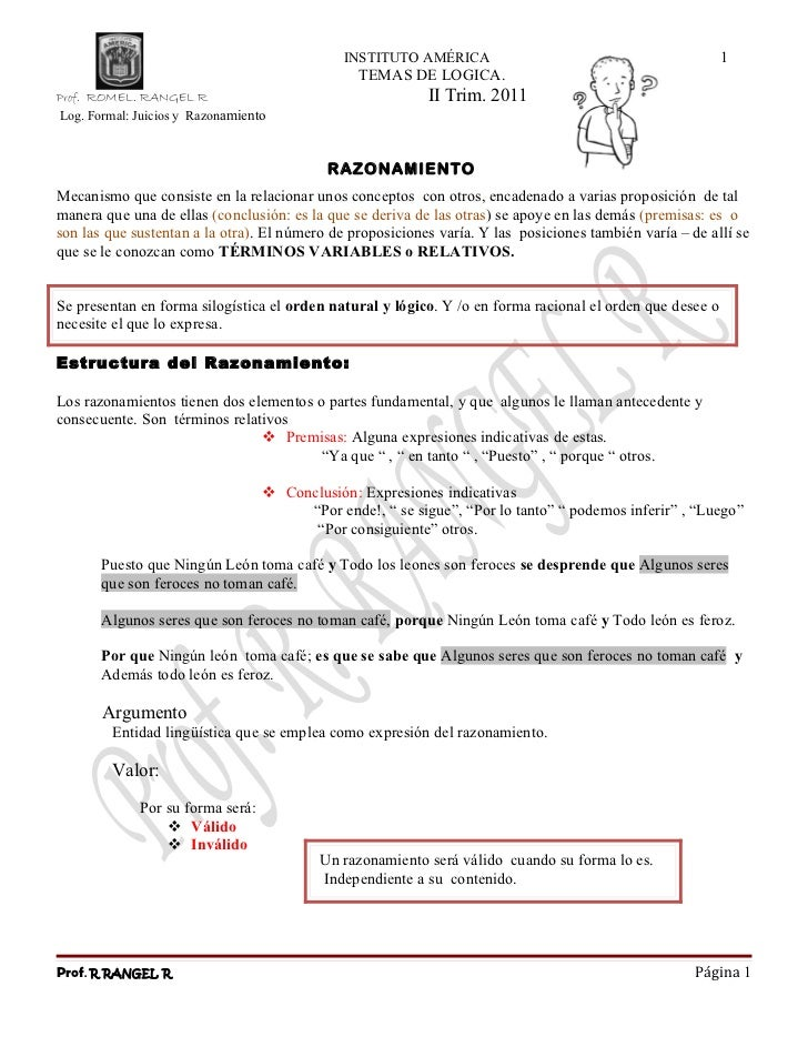 INSTITUTO AMÉRICA                                          1                                                  TEMAS DE LOG...