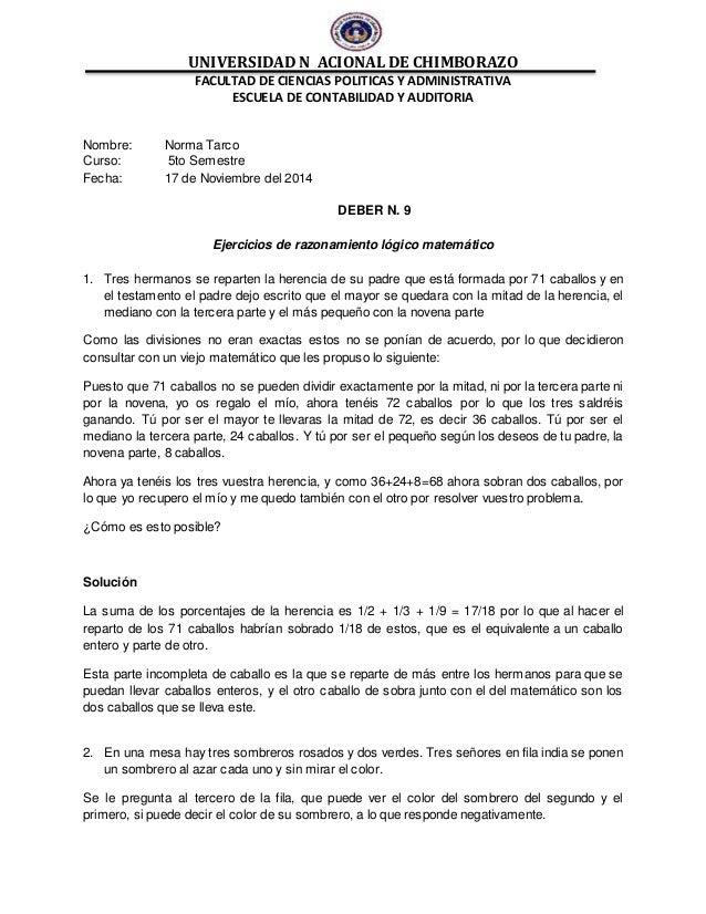 UNIVERSIDAD N ACIONAL DE CHIMBORAZO FACULTAD DE CIENCIAS POLITICAS Y ADMINISTRATIVA ESCUELA DE CONTABILIDAD Y AUDITORIA No...