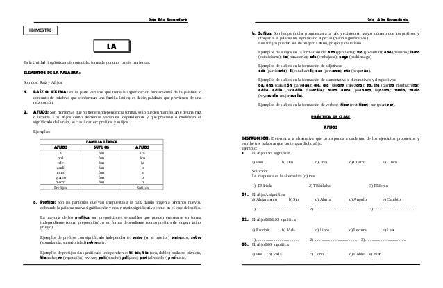 Ficha de Trabajo de Razonamiento Verbal I Bimestre - 2º Secundaria