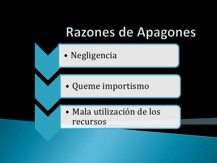 Razones de Apagones<br />