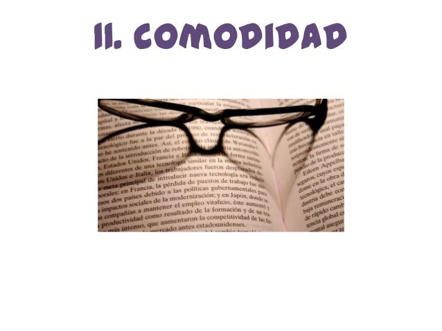 11. comodidad