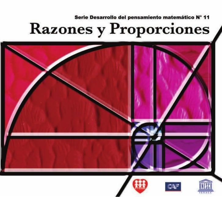 372.7 And. Razones y Proporciones Federación Internacional Fe y Alegría, 2006 32 p.; 21,5 x 19 cm. ISBN: 980-6418-85-9 Mat...