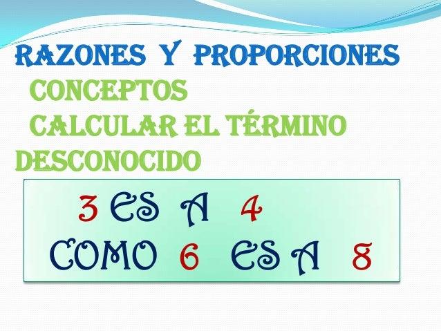 Razones y proporciones ppt Slide 2