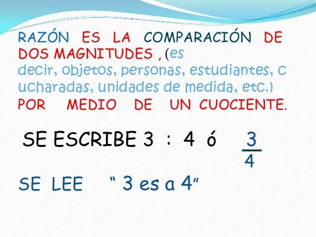 Razones y proporciones ppt Slide 3
