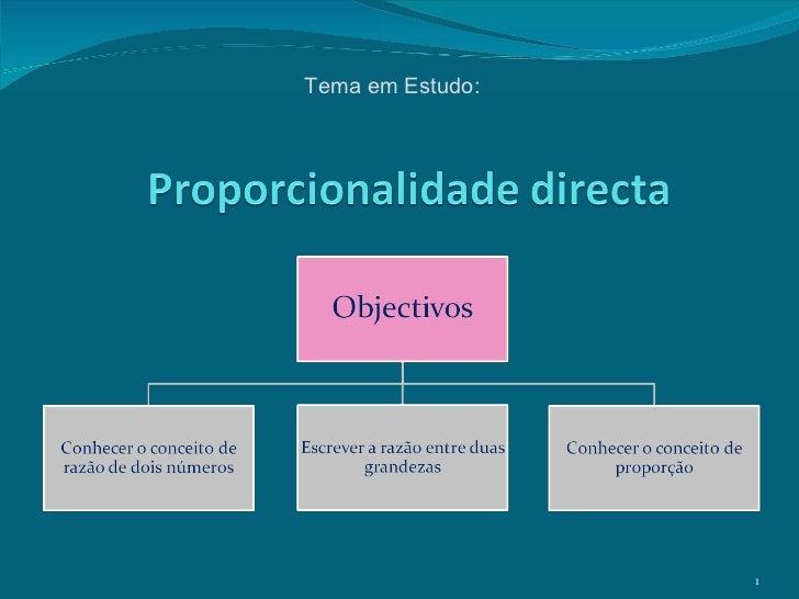 Tema em Estudo: