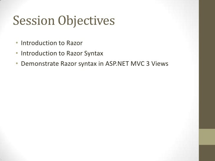 Introducing Razor - A new view engine for ASP.NET  Slide 3