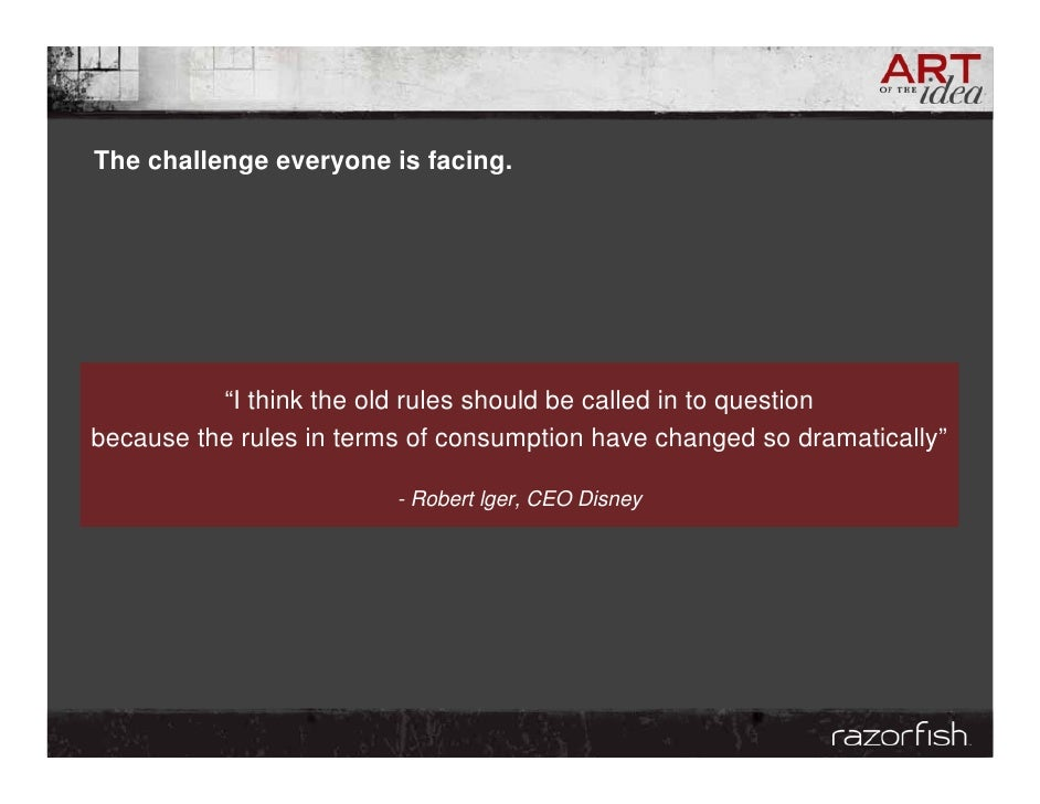 """The challenge everyone is facing.               """"I think the old rules should be called in to question because the rules i..."""