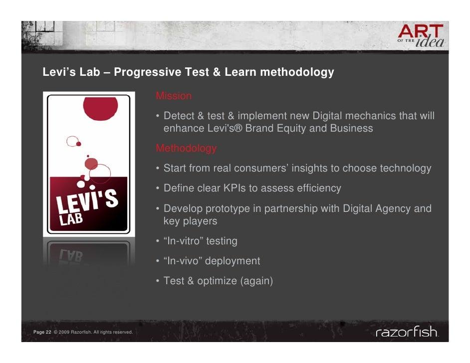 Levi's Lab – Progressive Test & Learn methodology                                                  Mission                ...