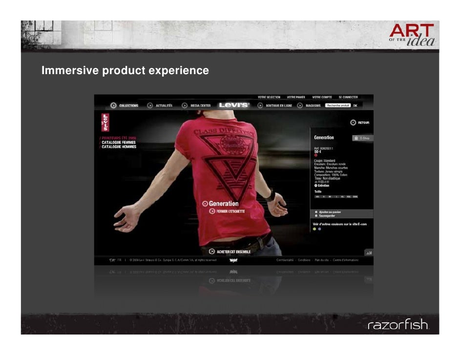 Immersive product experience