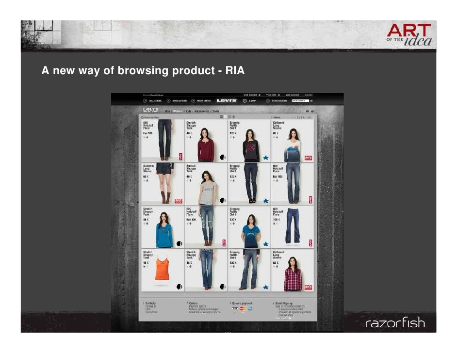 A new way of browsing product - RIA