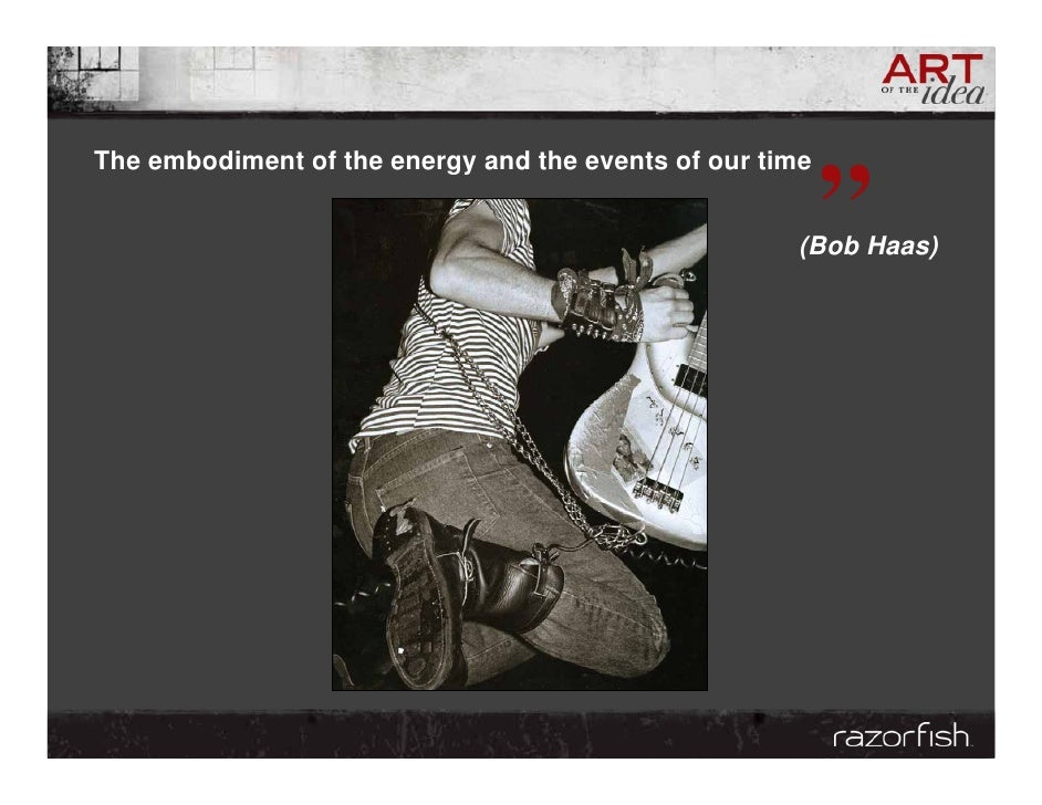 """The embodiment of the energy and the events of our time                                                           """"       ..."""