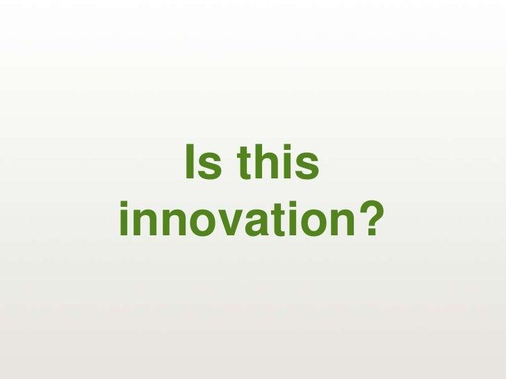 Creativity ≠ Innovation