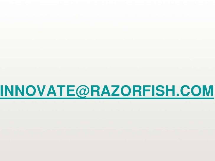 Razorfish - Joe Crump on Innovation Hell
