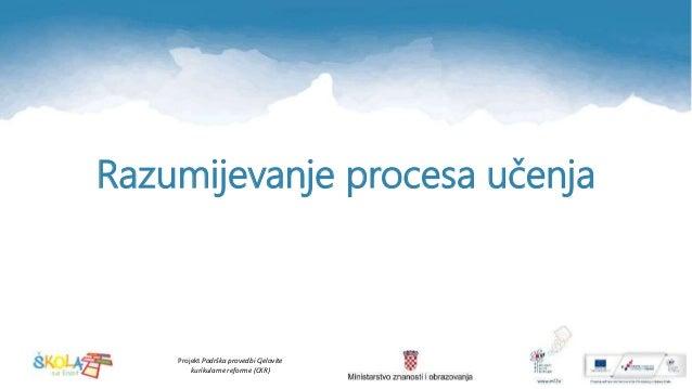 Projekt Podrška provedbi Cjelovite kurikularne reforme (CKR) Razumijevanje procesa učenja