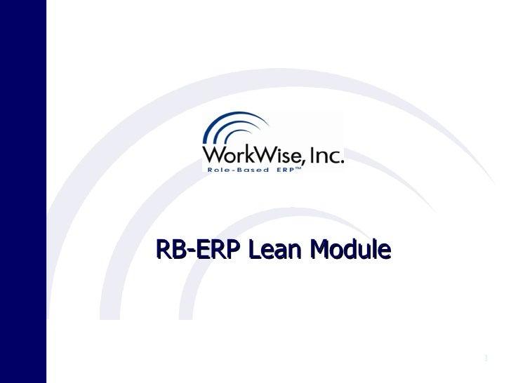 RB-ERP Lean Module                     1