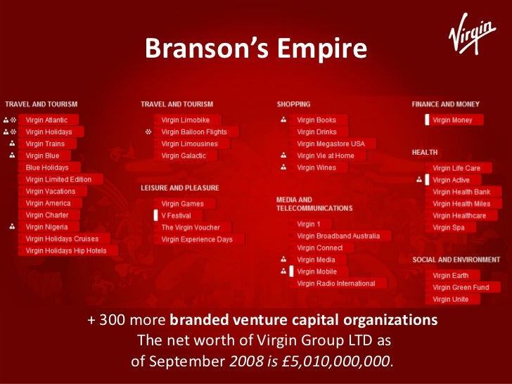 leadership in the virgin group Virgin group is a diversified grouping of more than 200 privately held companies the largest of these are virgin atlantic airways, the number two airline in the united kingdom virgin holidays, a vacation tour operator virgin rail, the second largest u k.