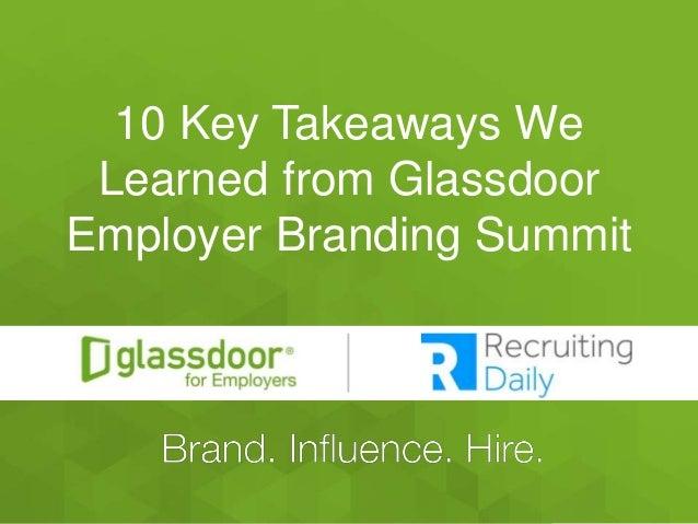 #GDChat 10 Key Takeaways We Learned from Glassdoor Employer Branding Summit