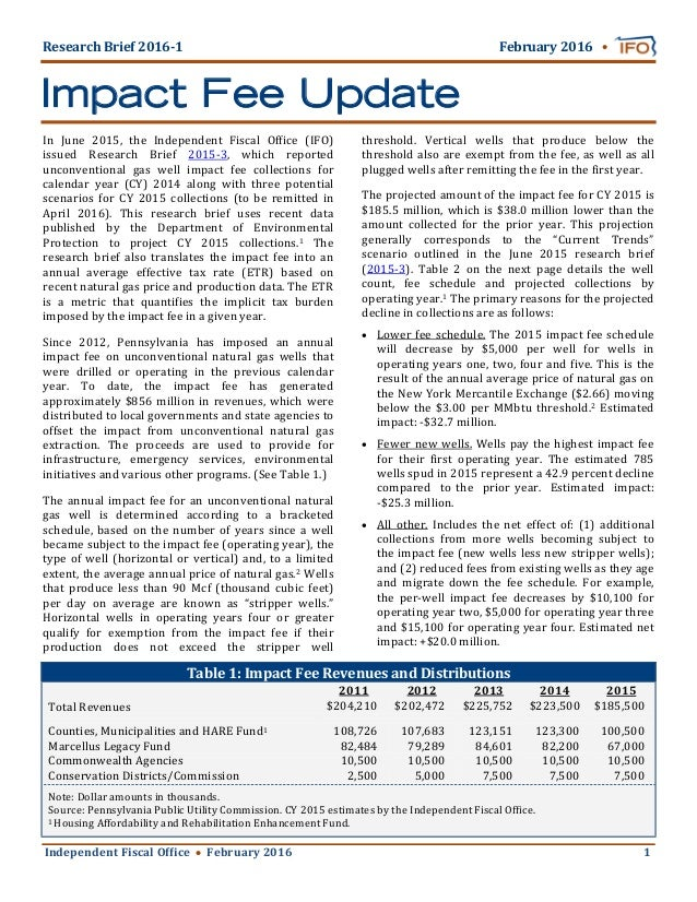 Independent	Fiscal	Of ice						February	2016 	 	 	 									1	 Research	Brief	2016‐1																																						...