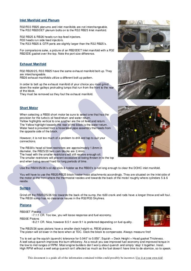 Rb30 dohc guide
