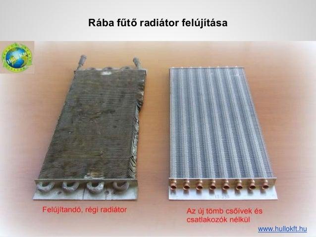 Rába fűtő radiátor felújítása szerkesztés előtt lemásolni, és a másolatot szerkeszteni www.hullokft.hu