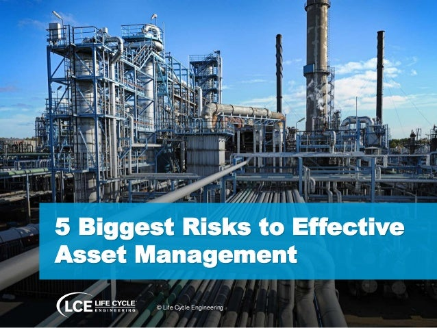 5 Biggest Risks to Effective Asset Management © Life Cycle Engineering