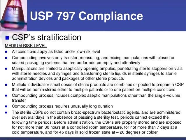 Usp 797 Medium Risk Beyond Use Dating