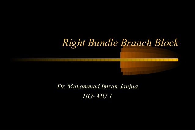 Right Bundle Branch Block  Dr. Muhammad Imran Janjua HO- MU 1