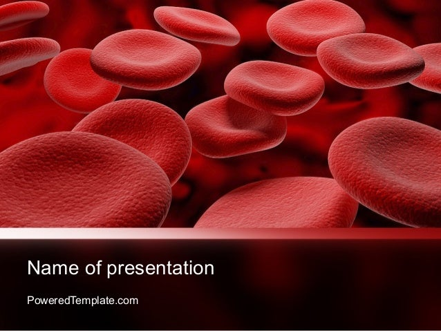 Rbc cells powerpoint template by for Blood ppt templates free download