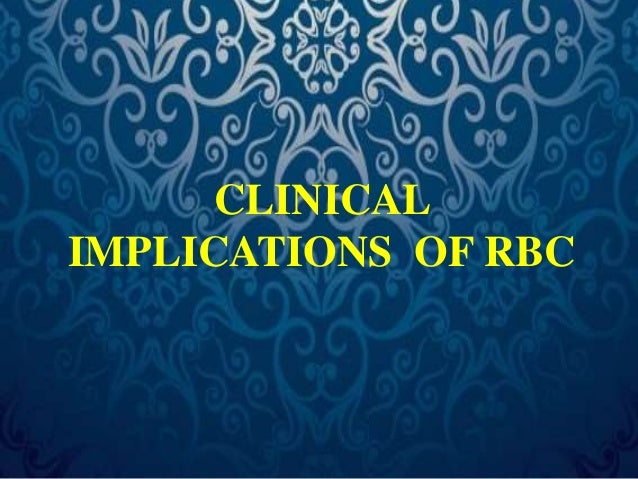Clinical disorders related to RBCs  Broadly classified into  1. Anemia – Decrease in RBC count and  Hemoglobin level.  2. ...