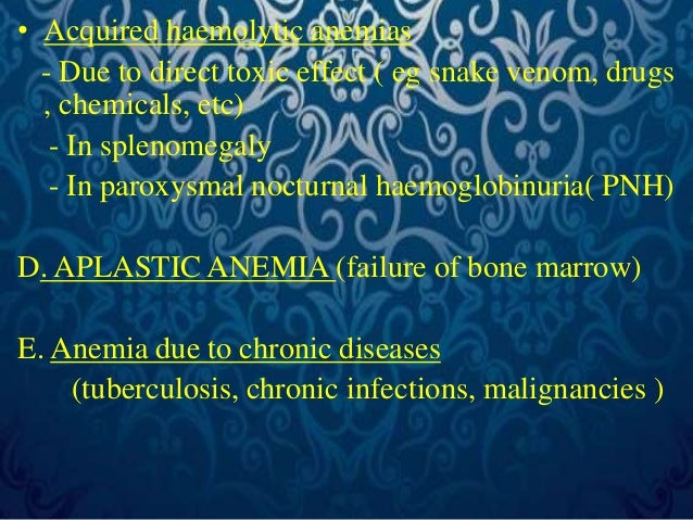 Morphological (Wintrobe's) classification  1.Normocytic normochromic anemias  • Acute post-haemorrhagic anemia  • Haemolyt...